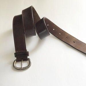 Vintage 90's Eddie Bauer Leather Belt Size M